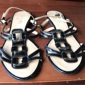 Black Chanel sandals